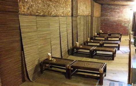 Meja Lesehan Bambu 24 konsep desain interior cafe minimalis vintage outdoor lesehan