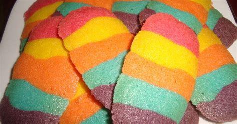 membuat donat rainbow resep kue lebaran resep lidah kucing rainbow