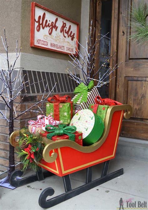 printable christmas yard decorations diy santa sleigh her tool belt