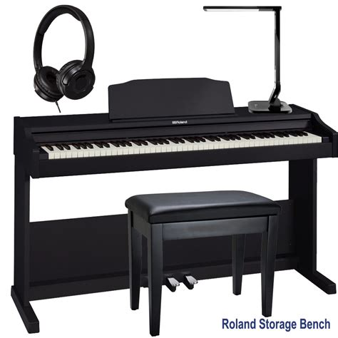 Roland Rp 102 Digital Home Piano roland rp 102 home style digital piano black 88 key weighted with roland storage bench