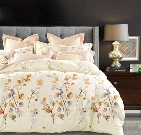 Duvet Cover With Ties Watercolor Autumn Leaf Duvet Cover Set Eikei