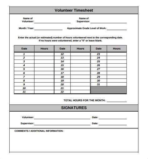 18 Volunteer Timesheet Templates Free Sle Exle Format Download Free Premium Templates Weekly Volunteer Schedule Template
