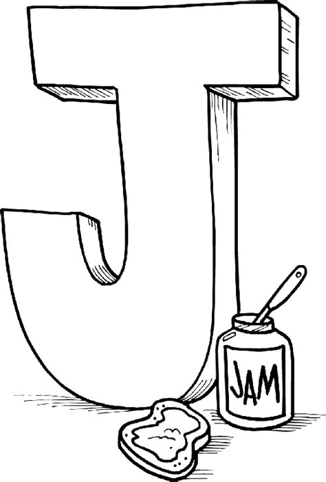 Coloring Pages Letter J | free alphabet coloring pages