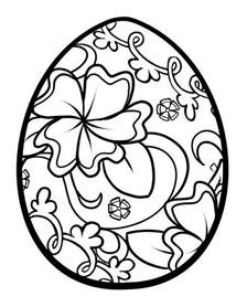 easter eggs to color unique easter coloring pages