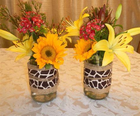Giraffe Print Baby Shower Ideas by Jar Wrap Burlap And Giraffe Print Jar