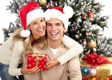couple gift wallpaper picture new year man lovers smile girls winter hat present