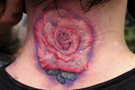 rose tattoo on the back 43 outstanding roses neck tattoos