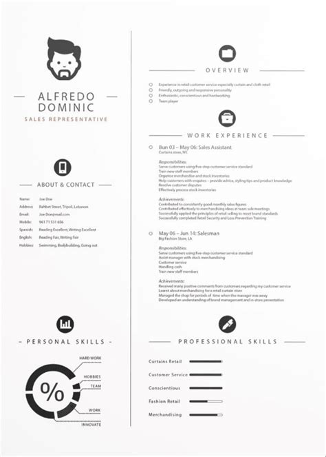 cv template ai cv templates adobe illustrator free resume exles cv