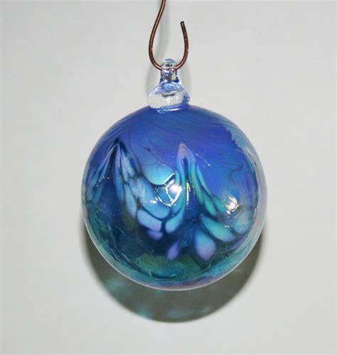 light blue christmas ornament