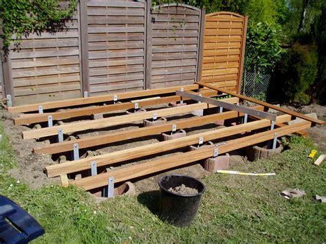 terrasse ohne fundament der terrassenbau