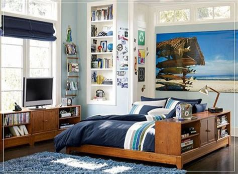 guys room bedroom cool tween boys bedroom ideas with wood bed frame in brown color on combined thick