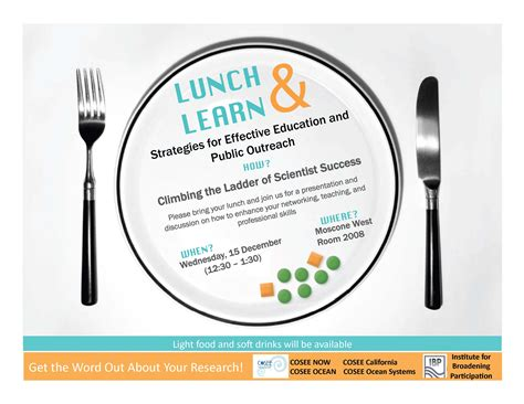 Lunch Learn Flyer Work Pinterest Lunch And Learn Flyer Template