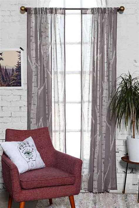 birch tree curtains assembly home birch trees curtain urban outfitters