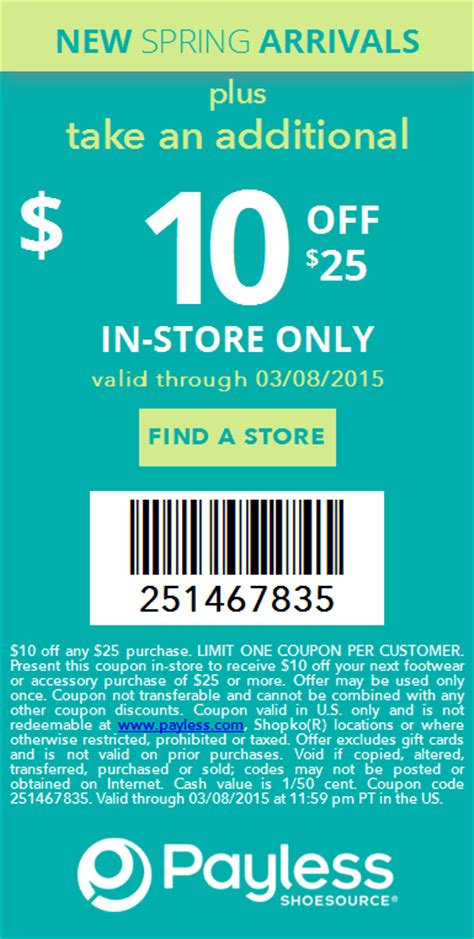 payless shoe source coupon payless coupons 10 25 today at payless shoesource