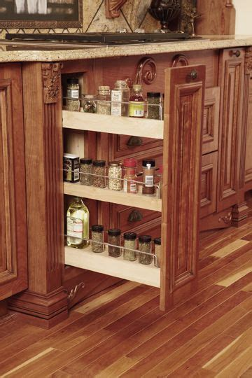 Base Cabinet Kitchen Spices Have A Home With This Base Spice Rack From Wellborn