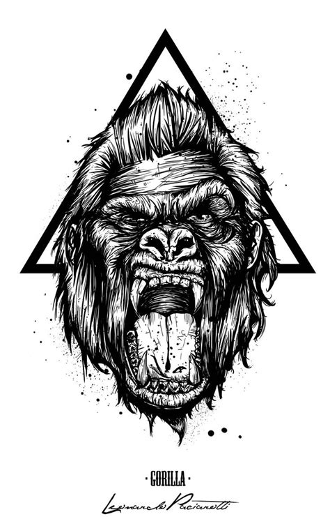 21 best gorilla tattoos illustrations images on pinterest