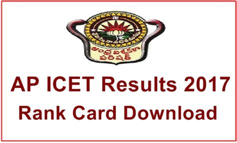 Manabadi Mba Results 2017 by Ap Icet Results 2017 Ap Icet Rank Score Card