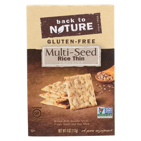 Multi Rice back to nature multi seed rice thin crackers brown rice
