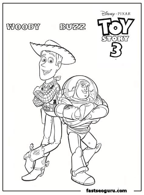 color buzz buzz and woody coloring pages coloring home