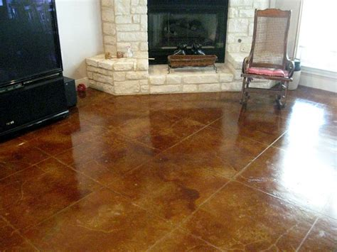 stained concrete living room cola acid concrete stain in living room concrete stained and ste