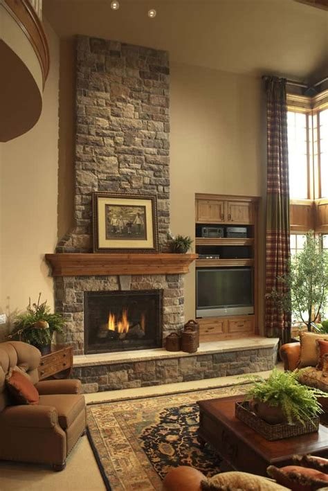 Fireplace Ideas Stone | 25 stone fireplace ideas for a cozy nature inspired home