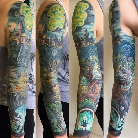 optic nerve tattoo harry potter sleeve by thom grayson at optic nerve in