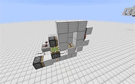 Piston Door Minecraft by Railway Piston Door Minecraft Project