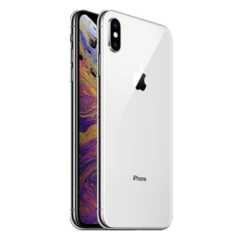 apple iphone xs max dual sim 256gb 4g lte silver facetime itshop ae