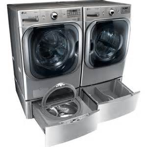 Lg Front Load Washer Pedestal Lg Wm8000hva Front Load Washer Amp Dlex8000v Electric Dryer