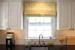 Kitchen Shades And Curtains by Green Street Before And After Kitchen Flat Roman Shade