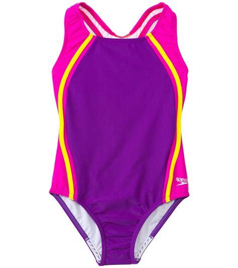 kids swimwear swimsuits swim gear at swimoutletcom speedo girls sport splice one piece 7 16 at swimoutlet com