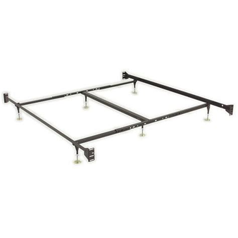 sturdy bed frame queen how to adjustable queen eastern king sturdy metal bed frame with glides by leggett