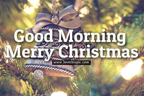 bell ornament good morning merry christmas image pictures   images  facebook