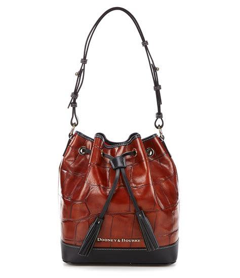 Via Repubblica Drawstring Shopper by Dooney Bourke Denison Collection Tasseled Drawstring Bag