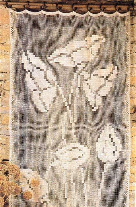 Rideau Crochet Patron by Rideau Au Crochet Les Coquelicots Avec Tuto Le De