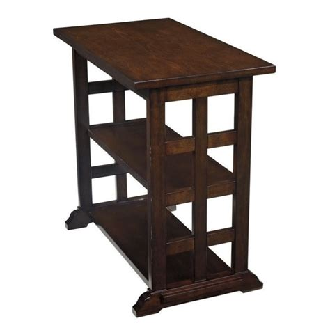 Lattice Table L braunsen chair side lattice end table in brown