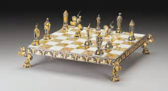 themed chess sets medioevo medieval gold and silver themed chess board