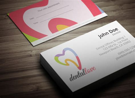appointment card template psd dentist business card design ready to print