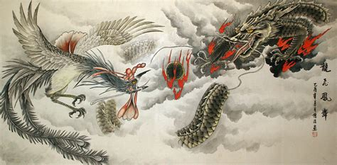 asian painting images and painting tigers dragons