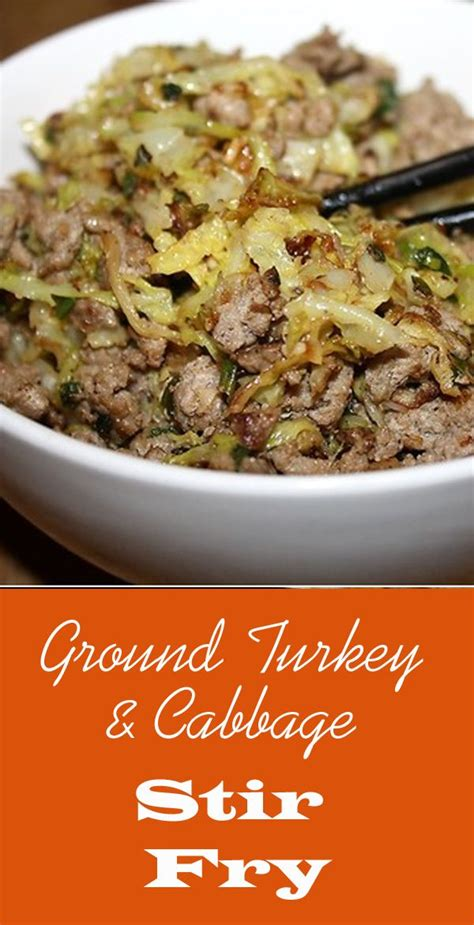 healthy fats low calorie ground turkey cabbage stir fry weeknight meals tasty
