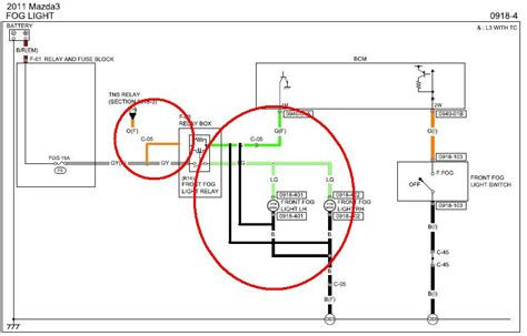 2011 mazda 3 fog light wiring diagram images wiring
