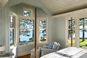 painted paneling traditional bedroom design by portland maine architect