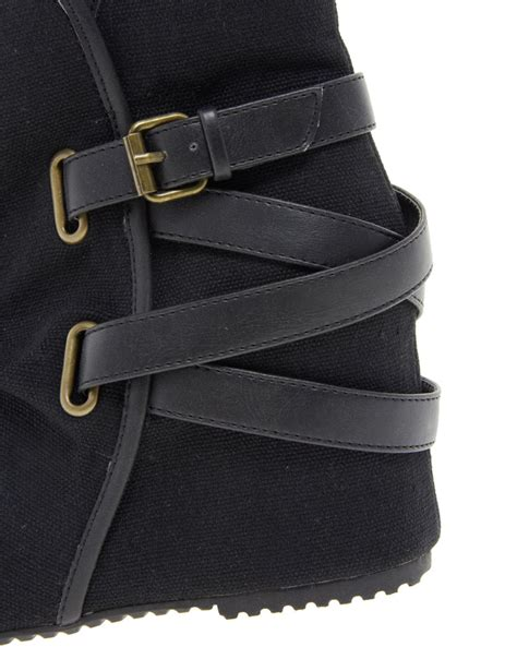 aldo nennia wedge ankle boots in black lyst