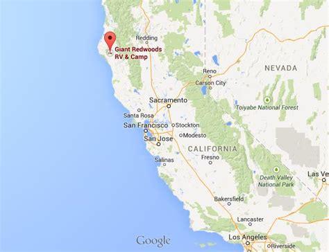 redwoods in california map california redwoods map california map