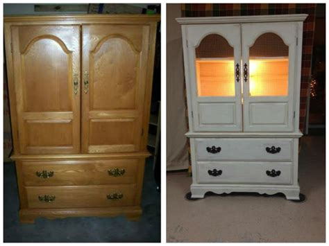 upcycled tv armoire this was another tv cabinet turned into a kitchen hutch