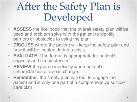 safety plan template for suicidal clients professional risk assessment and self harm risk