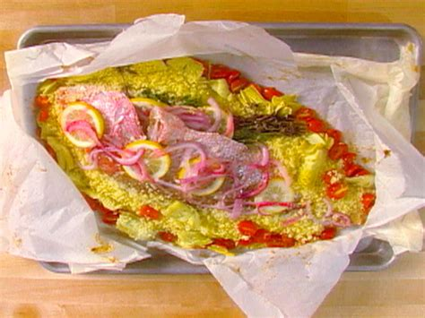 alton brown whole chicken red snapper en papillote recipe alton brown food network