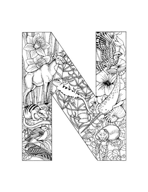 coloring pages for the letter n 100 best images about alphabet coloring on pinterest