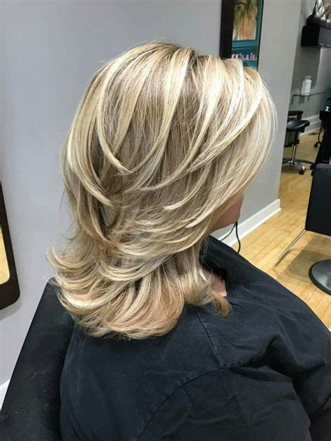 hairstyles for women medium length feathered back down the sides 31 best haircuts images on pinterest layered hairstyles