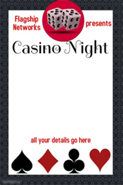 Customizable Design Templates For Event Fundraiser Postermywall Casino Fundraiser Flyer Template
